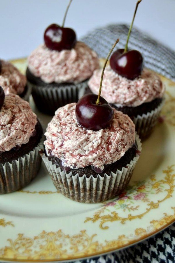 Tattooed Martha - Chocolate Porter Cupcakes with Black Cherry Frosting (12)