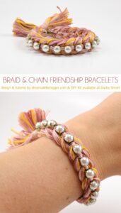 This is a friendship bracelet all grown up and it's so pretty! Get the tutorial at Dream a Little Bigger and get the kit at Darby Smart!