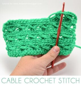 Add fun texture to your crochet pieces with only single and double crochets! Check out the Cable Crochet Stitch! Pictorial and video tutorial!