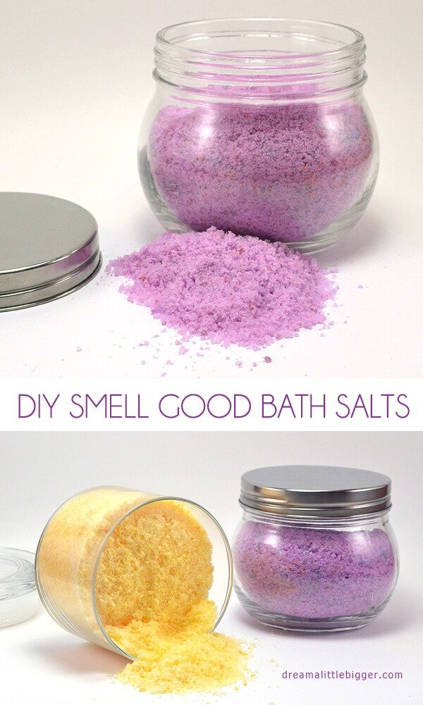 Diy smell good bath salts dream a little bigger for Things to make your house smell good