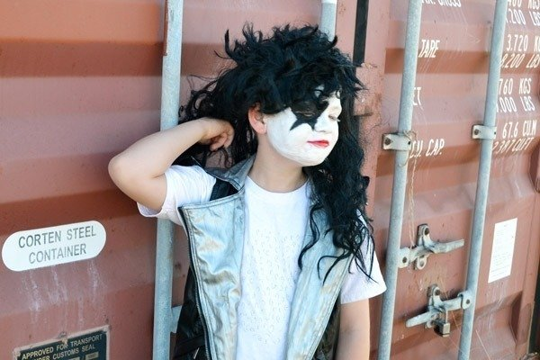This rock and roll Halloween costume is inspired by KISS!