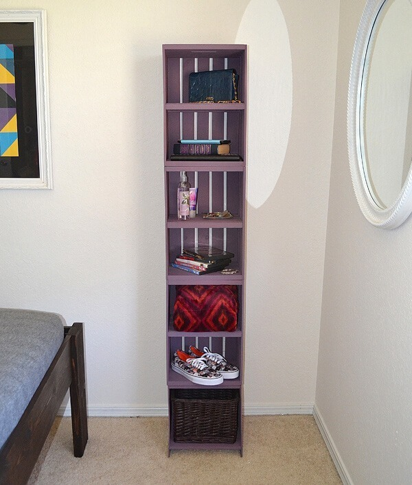 Easy Crate Shelves