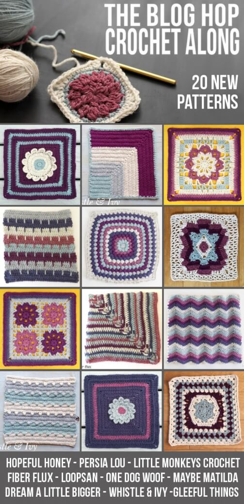 blog hop crochet along pin