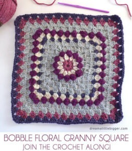 Bobble Floral Granny Square - join the crochet along!