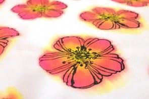 Hand stamp and dye fabric for custom patterns!