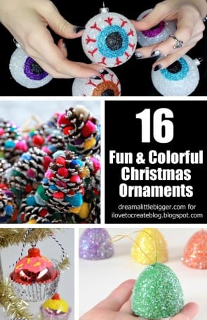 16 Fun & Colorful Christmas Ornaments