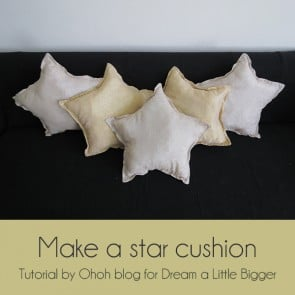 diy star cushion first