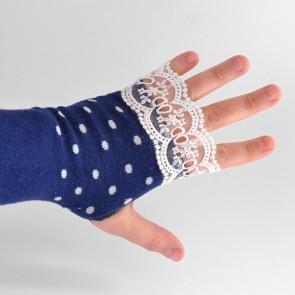 Turn socks into fingerless gloves. Easy peasy!