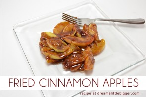 Pan fried cinnamon apples are an amazing fall treat!