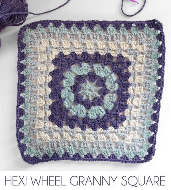 Hexi Wheel Granny Square – Afghan Crochet Along