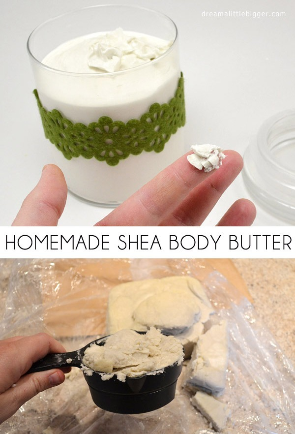 This homemade body butter recipe is divine for dry skin. Makes a great gift, too!