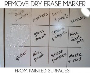 Need to remove dry erase marker from a painted surface? See how!