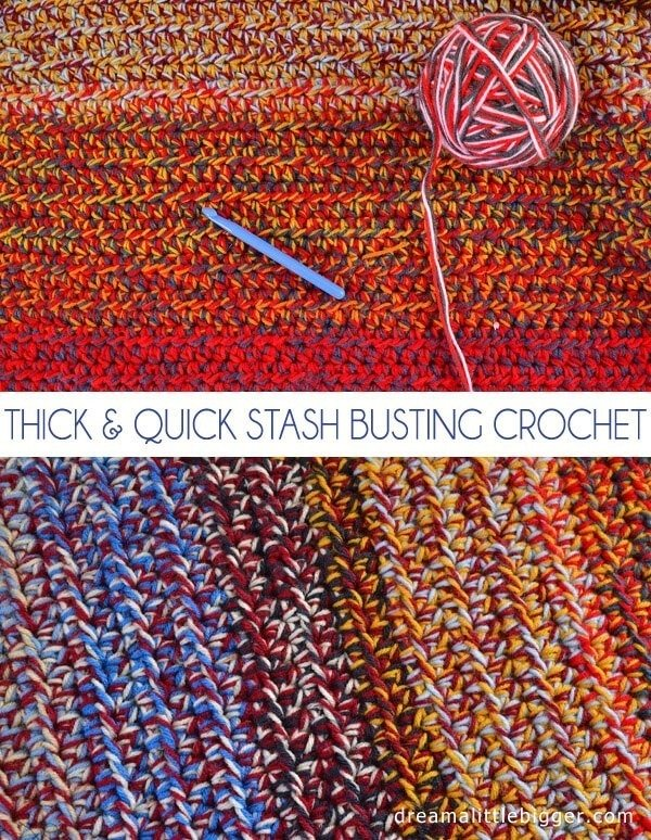 Stash bust and crochet up a super thick afghan quickly!