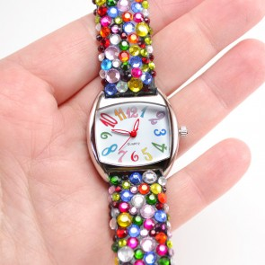 Update an inexpensive watch with crystals for a far out look!