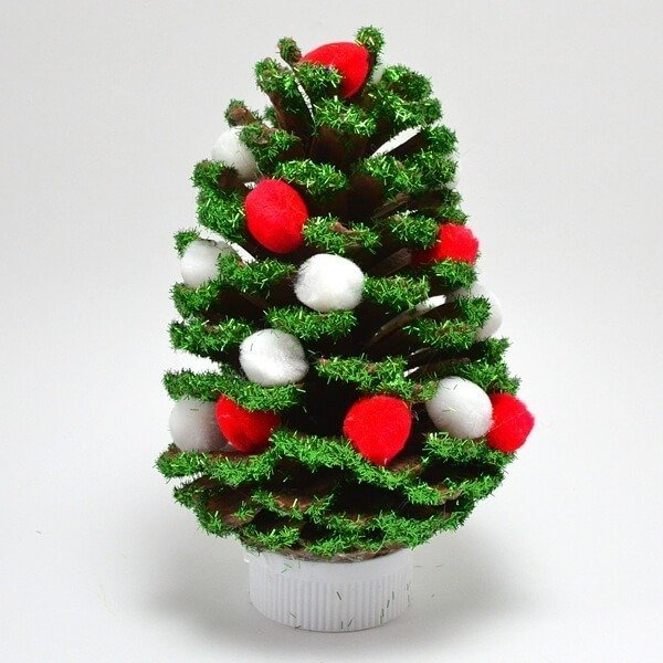 simple diy pine corn ornaments - Homemade Pine Cone Christmas Decorations