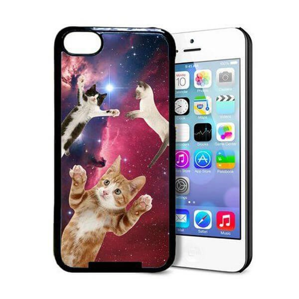 Hipster Flying Cat Phone Case - Amazon.com, $3.78