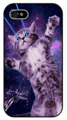 Laser Eyed Space Cat iPhone Case - Amazon.com, $8.99