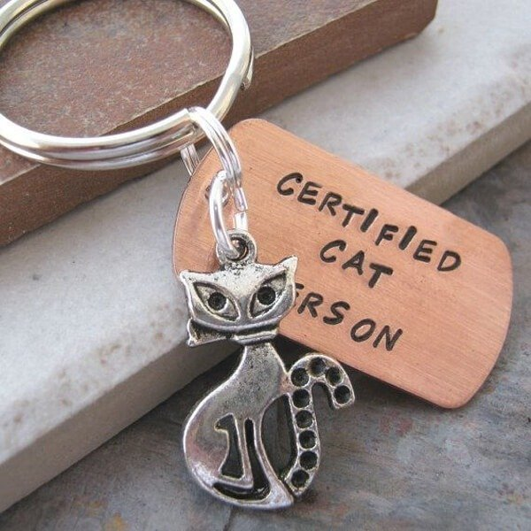 Certified Cat Person Keychain - Etsy.com, $14.95