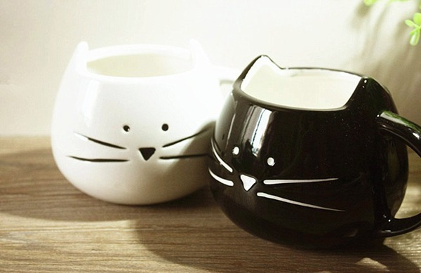 Black and White Cat Mug Set - Amazon.com, $30.00