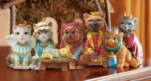 Cat Nativity - Amazon.com, $18.99