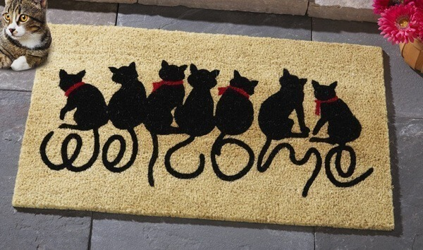 Welcome Kitties Front Door Mat - Amazon.com, $24.48