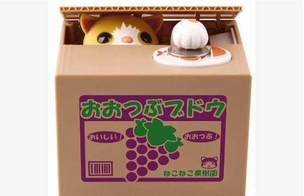 Itazura Coin Bank (cat steals change) - Amazon, $15.97