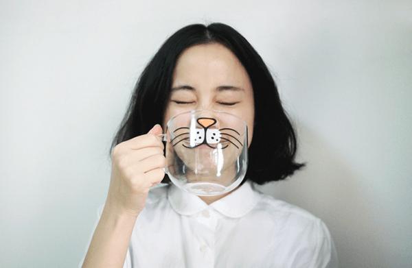 Cat Cartoon Cup - Zakka, $23.00