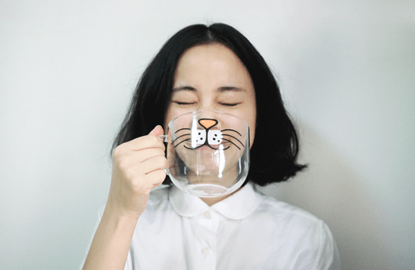 Cat Cartoon Cup - Zakka, $23.00