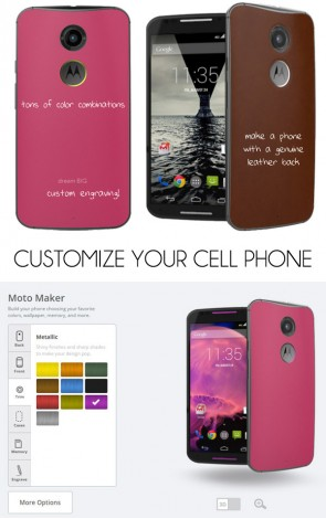 Customize your cell phone from front to back with Motorola Moto X.