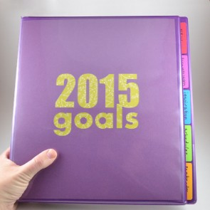 2015 Goals Binder Free Cut Files