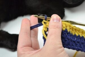 Learn how to change colors in crochet.