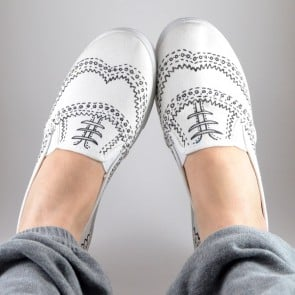 Hand Drawn Oxford Sneakers Tutorial!