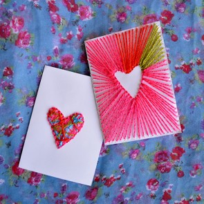 Lovely Wren - Neon String Art Cards for Valentine's Day