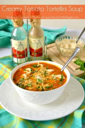 Tattooed Martha - Creamy Tomato Tortellini Soup Header