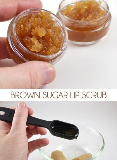 Make a small batch of brown sugar lip scrub. Keep one and gift the other!