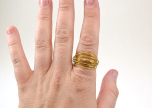 No jewelry making skills? No problem! These wire wrapped rings are very easy!
