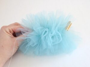How fun! Make your own shower poufs!