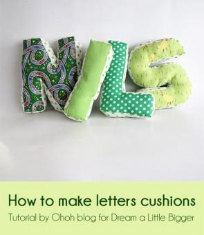 letter cushion tutorial 1l