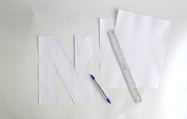 letter cushion tutorial 2