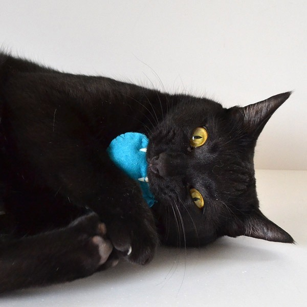 Don't leave the kitties out of Easter, make them these felt Easter Peep catnip toys instead!