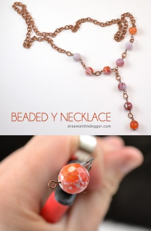 Y necklaces are hot and so pretty! See how to make your own!