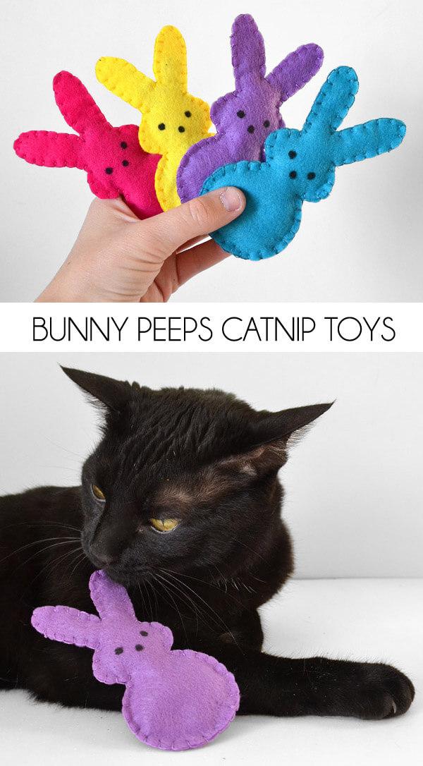Easter Bunny Peeps Catnip Toys