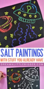 Keep your crafty kids busy with this super easy project that uses things you probably already have at home! Salt paintings are so fun and we can show you how to make them super vibrant!