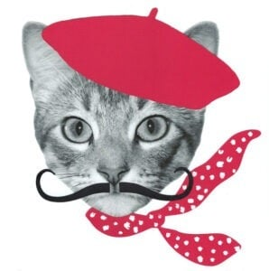 Free printable dressed up cat face art. Such fun kitties!