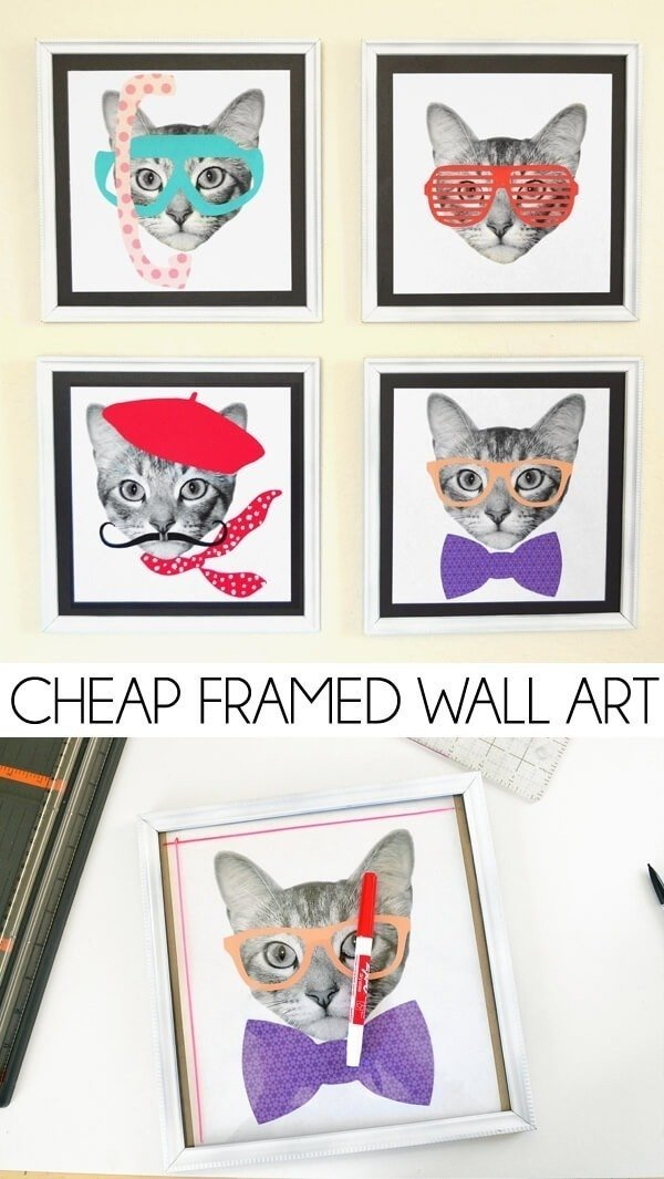 Decorating can be expensive. See how I update my walls with super cheap wall art for my tight budget!