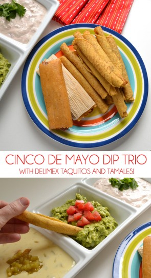 Celebrate Cinco De Mayo with a trio of fun dips. Great with taquitos and tamales!