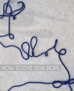 Need to dye sisal rope for a custom look? It's actually pretty easy!