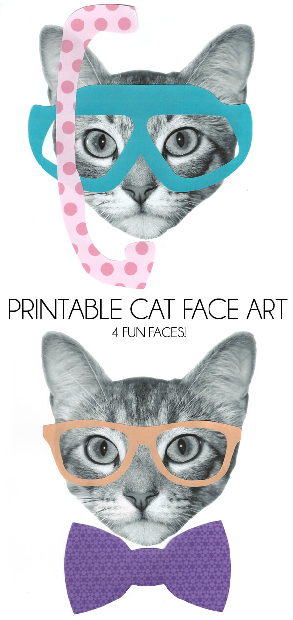 Printable Cat Face Art
