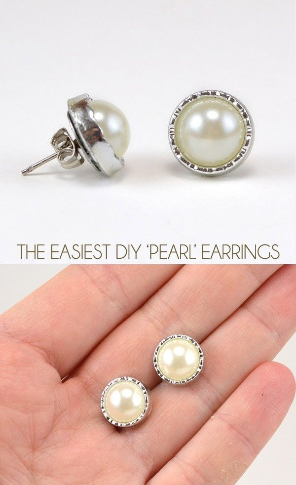 No need to spend a fortune on pearl earrings, these aren't real but you'll be amazed at how easy a pair is to make!