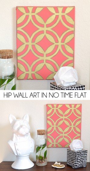 Company coming and the walls are bare? Knock this hip wall art out in no time flat!